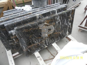 Black & Gold Marble From Afghan (Black Portoro) pictures & photos