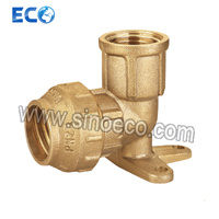 Brass Female Wall Plate Elbow for PE Pipe Fitting pictures & photos