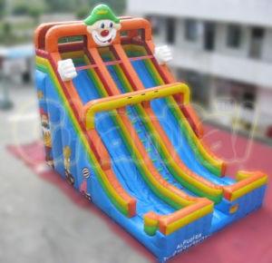 New Design Hot Sale Inflatable Clown Slide Chsl152 pictures & photos
