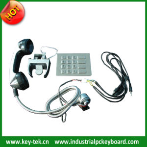 Vandal Proof Public Phone Handle Sets with Numeric Keypad