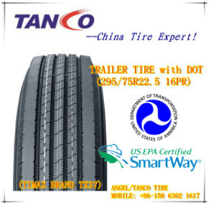 DOT Trailer Tire for North America (295/75R22.5 14/16PR TX37) pictures & photos