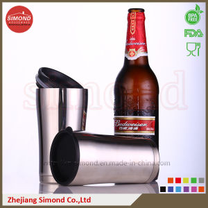 12oz Stainless Steel Vacuum Beer Mug with Plastic Lid pictures & photos