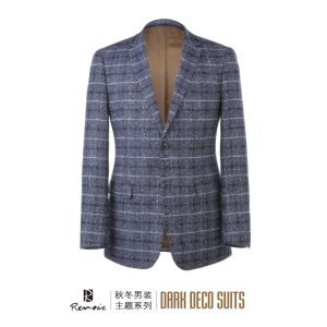OEM 2017 Slim Fit Plaid Men′s Business Blazer pictures & photos