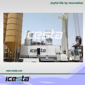 Icesta Best Concrete Cooling Using Flake Ice Making Plant pictures & photos