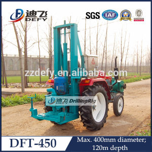 Zhengzhou Factory Widely Supply Tractor Mounted Drilling Rig pictures & photos