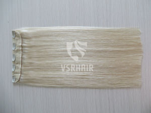 Hair Extension., Premuim Quality Hair Weft, Clip in Hair, Blond Color, Halo Hair