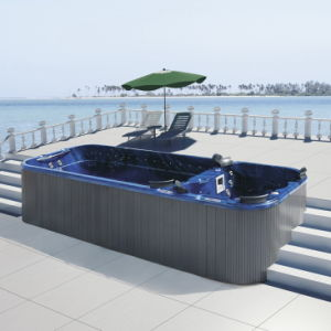 China Outdoor Two Parts Deluxe Aqua Hydro Air Jets Spa