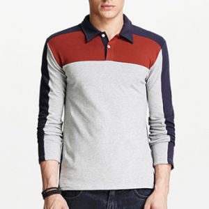 2014 OEM Polyester Cotton Long Sleeve Polo Shirt
