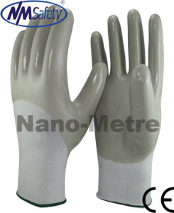 Nmsafety 3/4 Coated Smooth Nitirle Oil-Proof Safety Glove pictures & photos