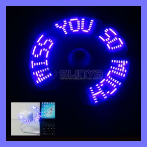 Colorful USB LED Programmable Flashing Message Fan pictures & photos