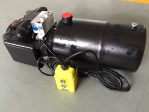 8L Double Acting Power Unit with Remote Control, Cable, Protect Cover. pictures & photos