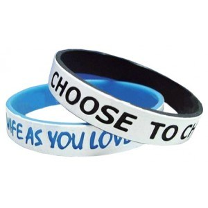 Customized Printed Dual Layers Silicone Bracelet, Silicone Wristband pictures & photos