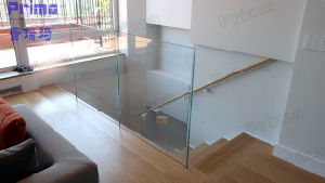 Aluminum U Channel Tempered Glass Railing pictures & photos