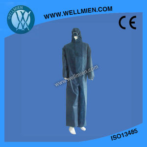 Wholesale Disposable Type5/6 Dark Blue Coverall pictures & photos