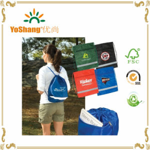Nylon Portable Waterproof Travel Shoe Printing Drawstring Bags pictures & photos