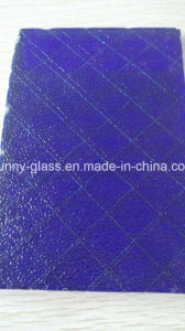6mm Dark Blue Safety Wired /Wire Glass for The CE Certificate pictures & photos
