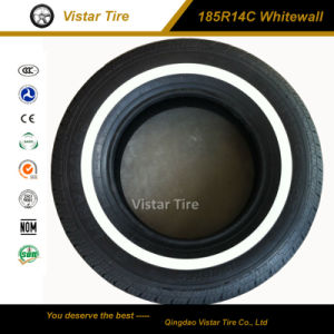 White Wall Passenger Car Tire and PCR Tyre (185R14C, 185R15C, 195R14C) pictures & photos