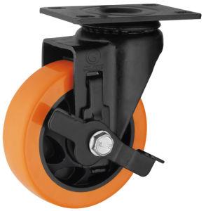 Medium Duty PU Caster Wheel (Orange) (G3206E) pictures & photos
