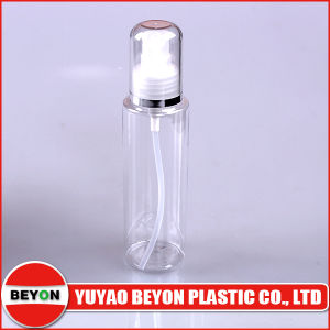 Transparent 120ml Cylinder Plastic Pet Bottle with Lotion Pump (ZY01-B065) pictures & photos