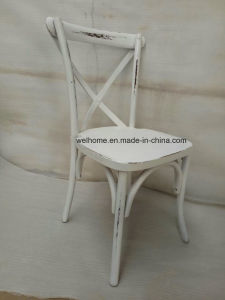 Antique Style Wooden X Cross Back Chair for Rental pictures & photos