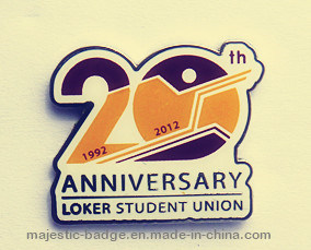 20 Anniversary Lapel Pin Offset Print pictures & photos