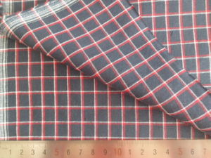 Red/White/Black 125GSM 100% Cotton Yarn Dyed Fabric pictures & photos