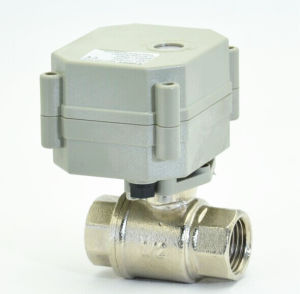 2 Way 1/2′′ Electric Motorized Nickel Plated Brass Ball Valve for Fluid Control (T15-N2-C) pictures & photos