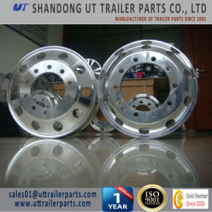 24.5′′ Same Quality as Alcoa Brand Polished Aluminum Alloy Wheel Rim for Truck and Trailer pictures & photos