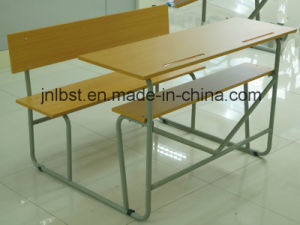 Hot Sale! Double School Desk and School Chair, School Furniture for Student /Study pictures & photos