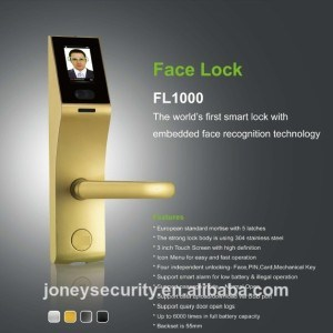 3 Inch Capacitive Touch Screen Intelligent Face Recognition and Fingerprint Door Lock pictures & photos