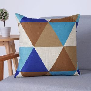 Digital Print Decorative Cushion/Pillow with Geometric Pattern (MX-76B/D) pictures & photos