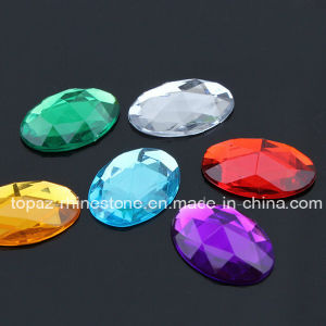 Oval 10X14mm Acrilic Rhinestone Crystal Jewelry Flat Back Gems No Holes (FB-Oval10X14mm) pictures & photos