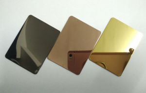 Steel Gold Rose Color Mirror Super Duplex Embossed Stainless Steel Sheet