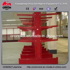 Warehouse Rolling Steel Cantilever Shelf Rack