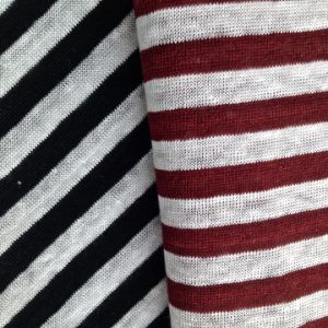 Yarn Dyed Linen Knitted Fabric for T-Shirt (QF14-1546-SS) pictures & photos
