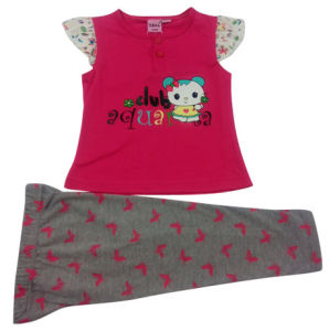 Baby Lovely Girl Pajamas with Leggings pictures & photos