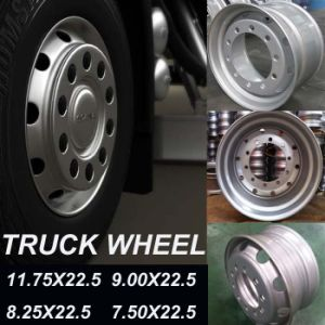 Truck Wheel, Steel Wheel 22.5X11.75 22.5X9.00 22.5X8.25 22.5X7.50 pictures & photos