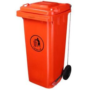 Red120lt HDPE Plastic Pedal Bin pictures & photos