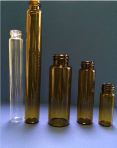 1ml-50ml Amber Screwed Tubular Glass Vial for Pharma and Cosmetic Packing