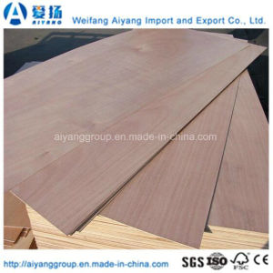 Okoume Faced Poplar Core Commercial Plywood for Decoration/Furniture pictures & photos