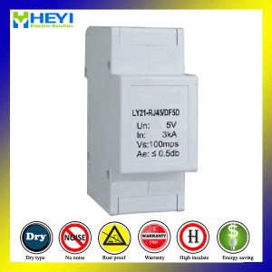 Ly21-RJ45 DIN Rail Style Ethernet Surge Protector Surge Generator pictures & photos
