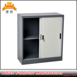 Knock Down Metal Office Furniture Sliding Door Small Filing Cabinet Steel Cupboard pictures & photos