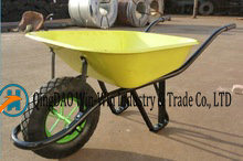 Steel Wheelbarrow with 4.00-8 Pneumatic Wheels Wb6400s pictures & photos