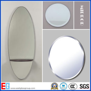 Silver Mirror/Aluminum Mirror/Copper Free Silver Mirror/Colored Mirror/Bathroom Mirror/Safety Mirror with Cat II or PE Film/ Tempered Mirror/Mirror Glass pictures & photos