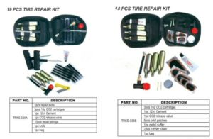 Motorcycle and Car Tubeless Tire Repair Plug Kit CO2 Cartridge Kit pictures & photos