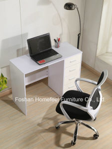 Colorful High UV Glossy Study Computer Desk with 4 Drawers pictures & photos
