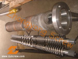 WPC/ Recycled PVC Bimetallic Conical Twin Screw and Barrel pictures & photos