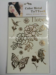 Color Metallic Tattoo Sticker-Color Changed Under Ultra-Violet Lamp pictures & photos