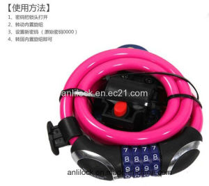 Bicycle Lock Motorcycle Lock, Bike Lock, Combination Lock (AL-08904) pictures & photos