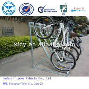 New Design Semi-Vertical Bike Parking Rack Bike Racks (ISO SGS SUV Approved) pictures & photos